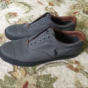 Ralph Lauren Polo Shoes Size 10.5 Gray casual mens